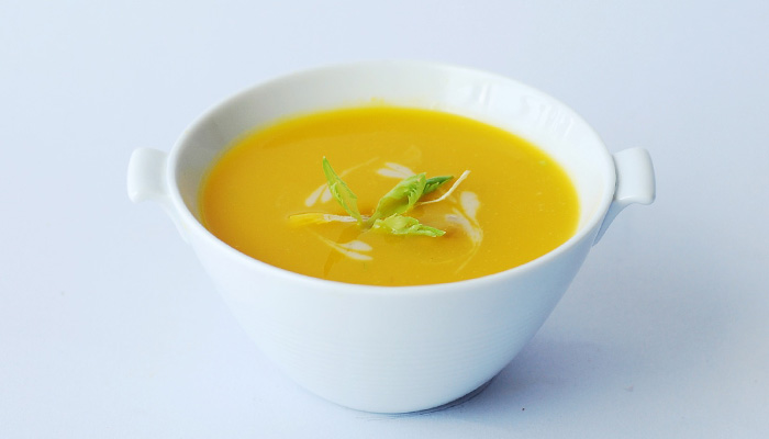 菊芋パウダーをスープに