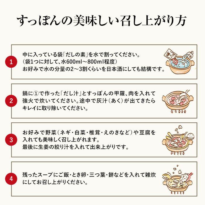すっぽん鍋美味しい食べ方