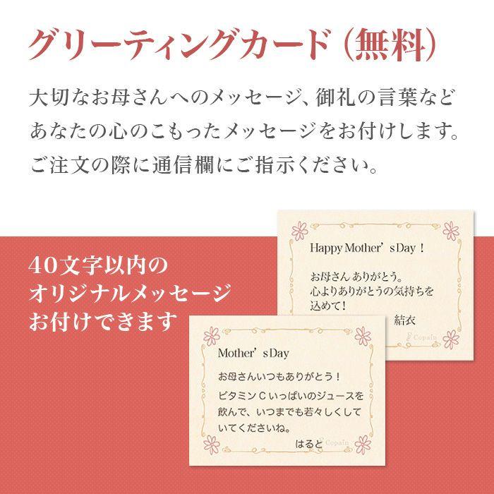 三ケ日みかんジュース 母の日オリジナルメッセージカード