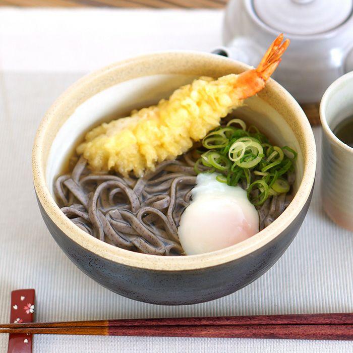伊豆棚田の黒米うどん(乾麺)の天ぷらうどん