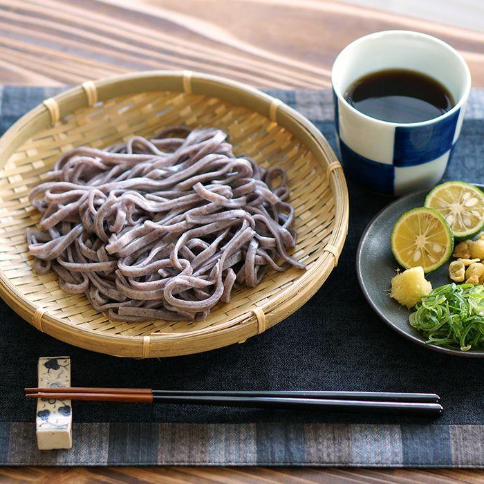 伊豆棚田の黒米うどん(乾麺)のざるうどん